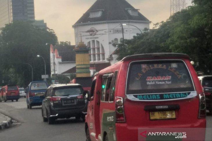 Arus lalu lintas hari ketiga Lebaran di Kota Medan ramai