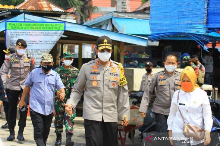 Kapolda Gorontalo tinjau sarana perniagaan jelang penerapan normal baru