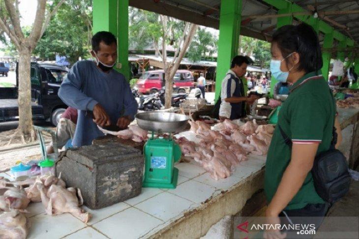Permintaan daging di pasar tradisional Babel anjlok