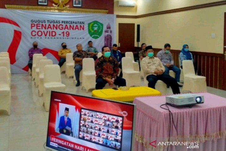 Bersama Presiden, Pemkot Padangsidimpuan peringatan Hari Lahir Pancasila secara virtual
