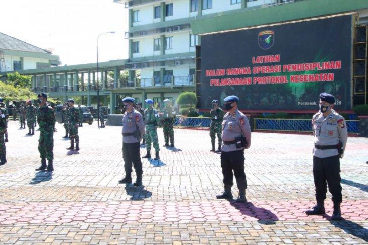 Polda Kalbar dan Kodam Tanjungpura latihan bersama persiapan normal baru