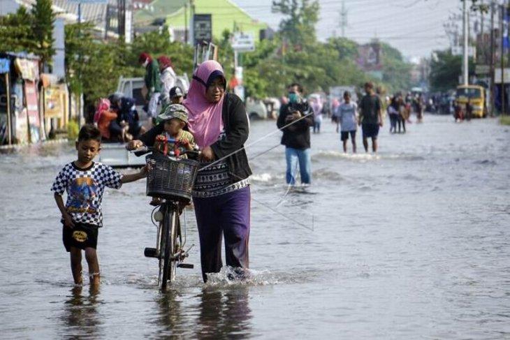 Banjir rob di Pekalongan