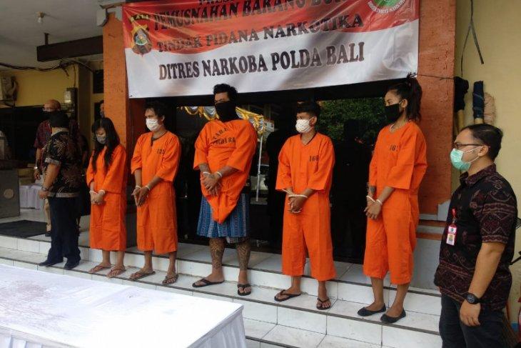 Januari-Juni, Polda Bali tangkap 387 tersangka kasus narkoba