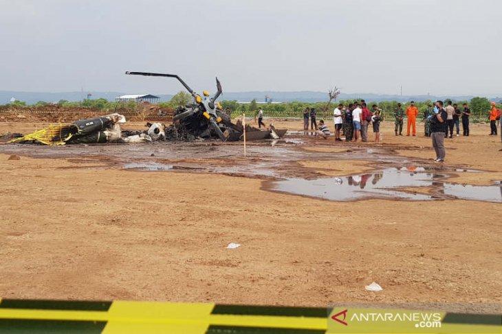 Helikopter militer jatuh dan terbakar di Kendal Jateng