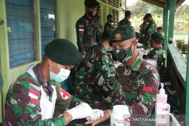 448 prajurit perbatasan jalani rapid tes COVID-19
