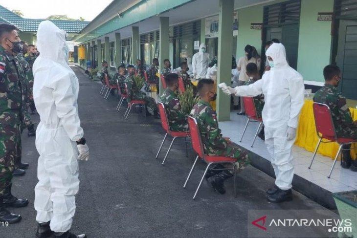 448 prajurit perbatasan RI-Malaysia jalani tes cepat COVID-19