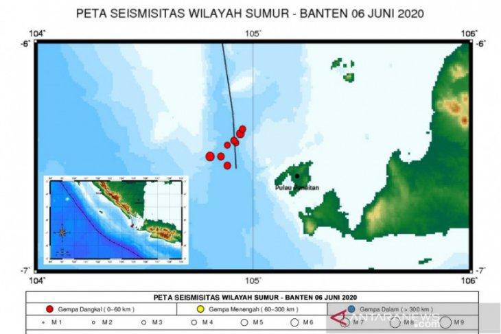BMKG: Dua gempa bumi guncang Selat Sunda akibat aktivitas sesar lokal