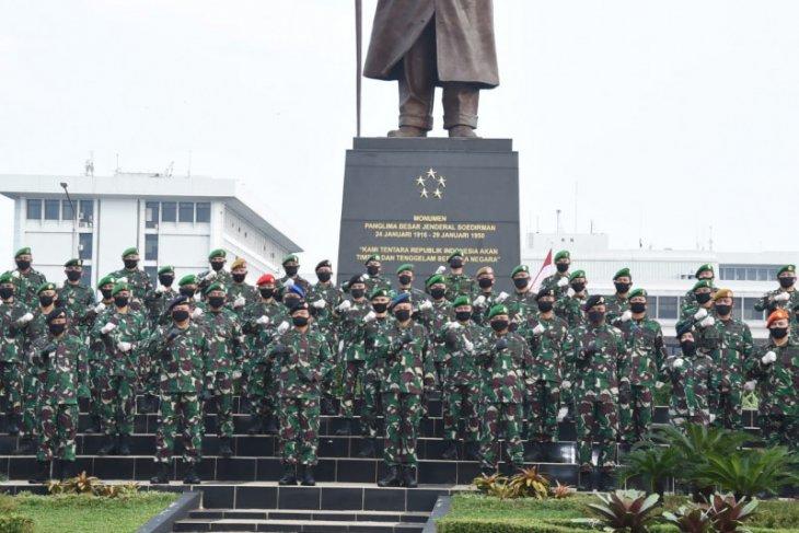83 perwira tinggi TNI terima kenaikan pangkat