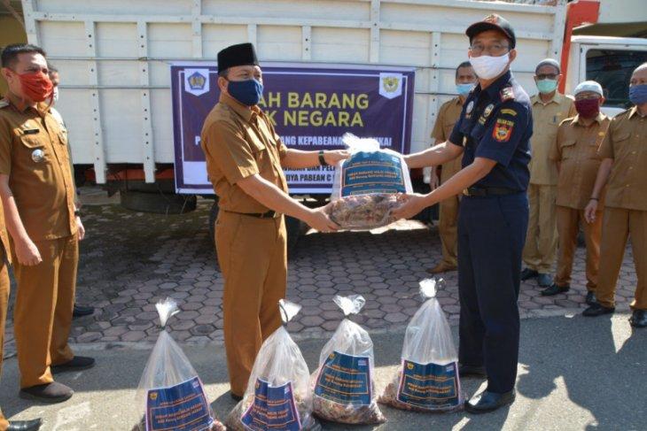 3,96 ton bawang merah, Pemkot Langsa terima hibah Bea Cukai