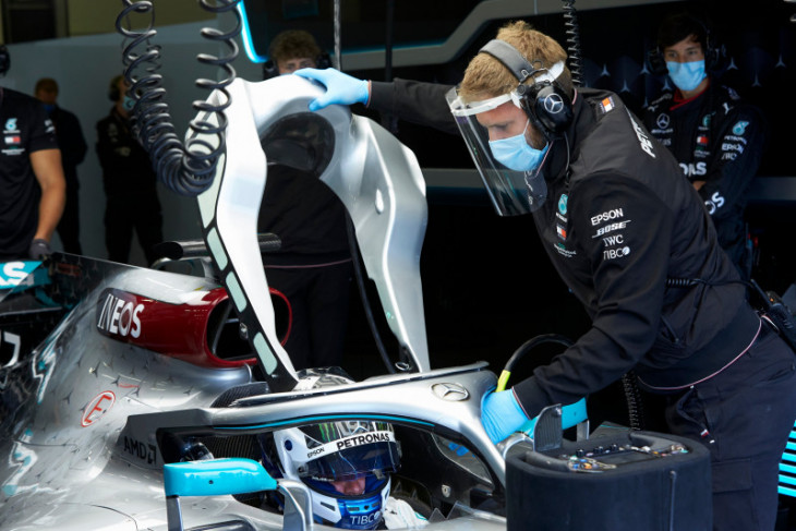 Mercedes berlatih di Sirkuit Silverstone persiapkan ketatnya jadwal F1 2020