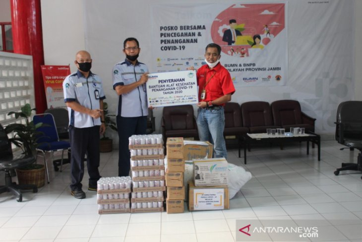 Satgas Bencana BUMN Jambi salurkan bantuan COVID-19
