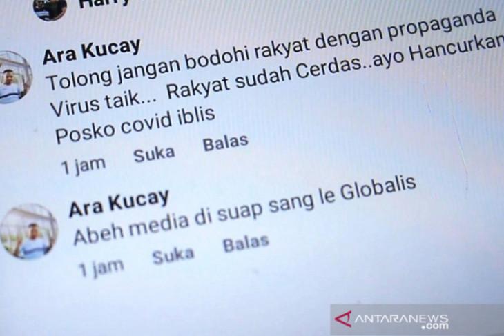 Diduga provokasi warga, Tim COVID-19 Nagan Raya panggil seorang pemilik akun Facebook