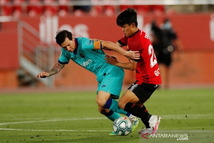 Sebuah gol dua assist dari Messi saat Barcelona libas Mallorca 4-0