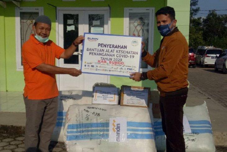 Satgas Bencana BUMN Jambi bantu 491 baju hazmat ke Bungo