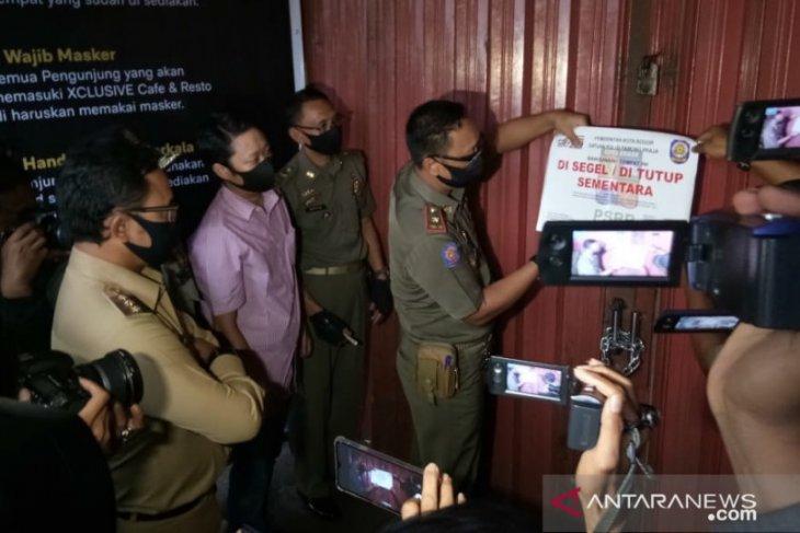 Pemkot Bogor segel THM X-Clusive Cafe karena langgar aturan PSBB