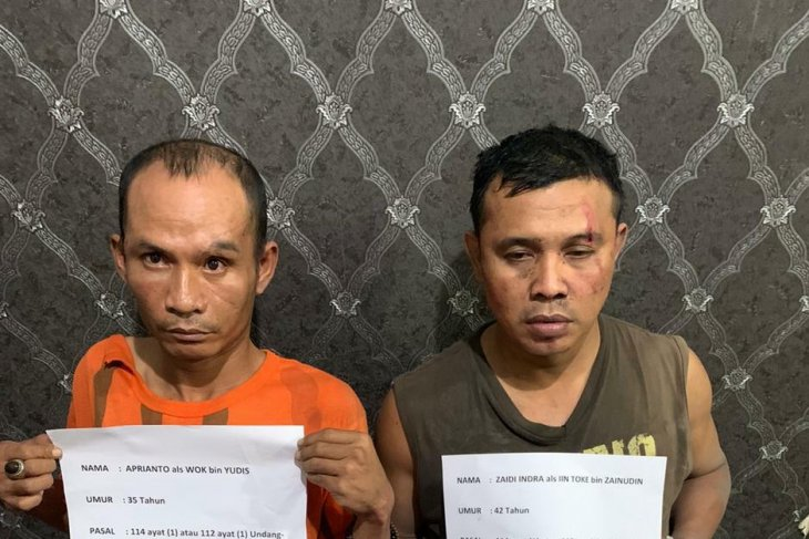 Polresta  tangkap dua pengedar narkoba simpan sabu di hotel