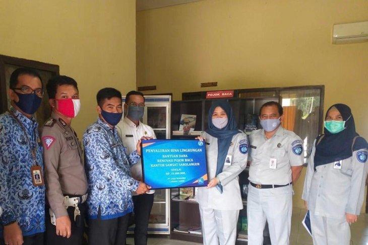 Bikin tampil beda, Jasa Raharja Jambi renovasi pojok baca Samsat Sarolangun