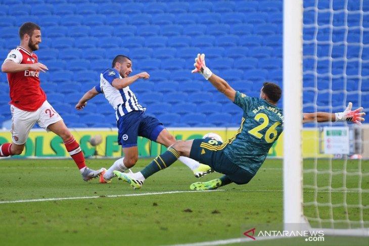 Arsenal pulang menelan kekalahan 1-2 dari Brighton