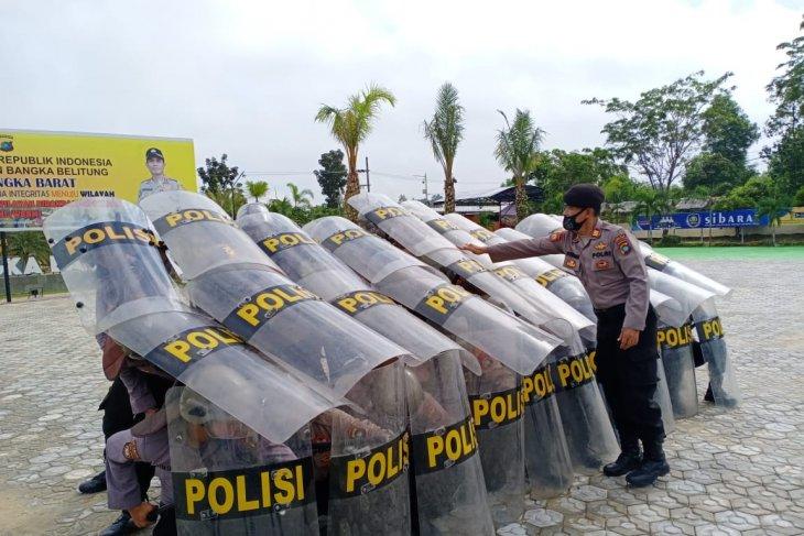 Sabhara Polres Bangka Barat gencar latihan pengamanan Pilkada 2020