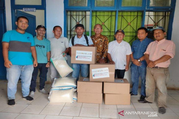 Wartawan Madina dapat bantuan Sembako dari gugus tugas COVID-19 Sumut