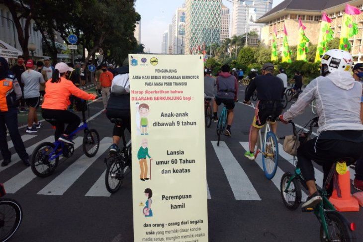 Jakarta's car free day returns after being suspended since March 15