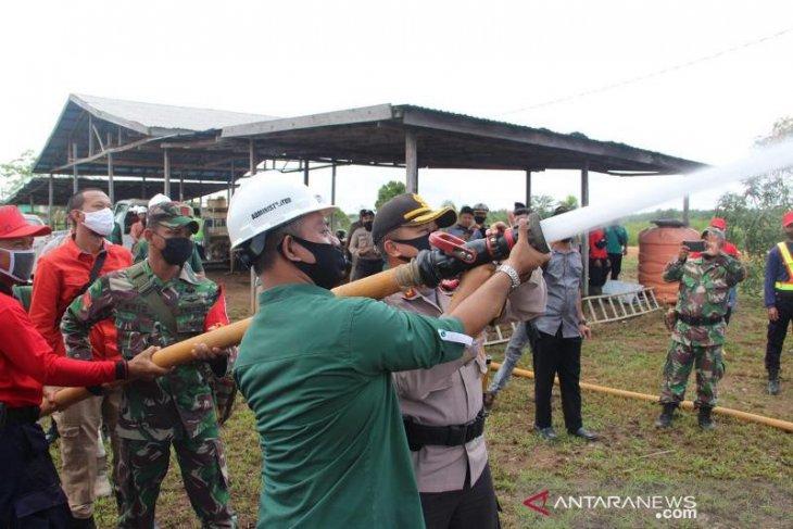 Kapolres Tapin asistensi kesiapsiagaan karhutla di PT Tri Buana Mas