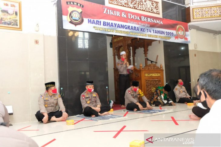 Polda Jambi gelar zikir dan doa sambut HUT Bhayangkara
