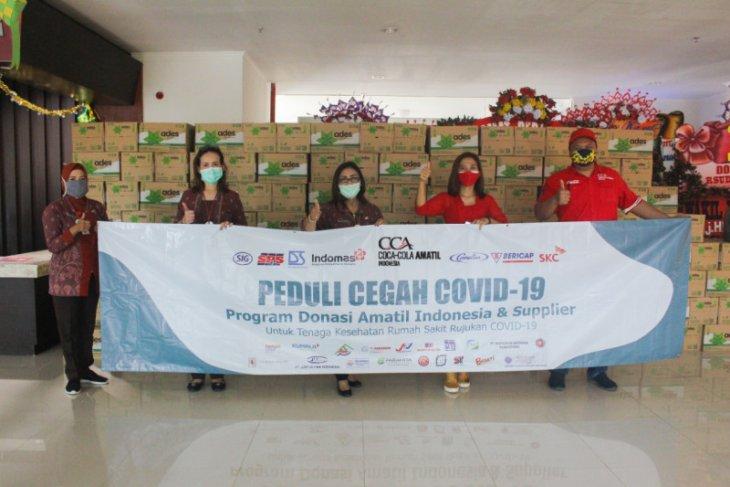 RS Rujukan COVID-19 di Indonesia terima bantuan 13.000 paket produk minuman CCAI