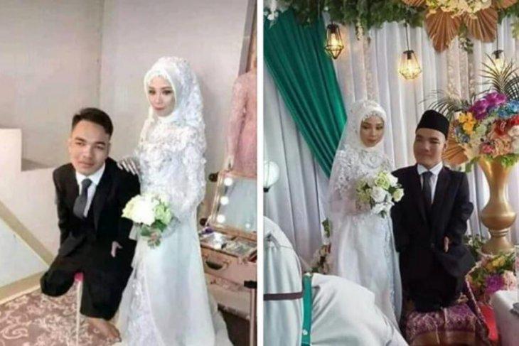 Jalinan kasih Untung Jayadi, penyandang disabilitas dua hari pacaran langsung nikah