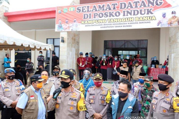 Kapolda bangga kesiapan pangan Kampung Tangguh di Tanah Bumbu