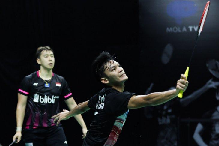 Marcus/Fikri kantongi kemenangan atas Hendra/Pramudya pada turnamen internal PBSI