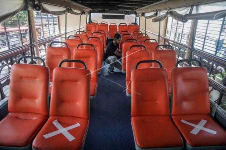 Persiapan normal baru bus tingkat wisata