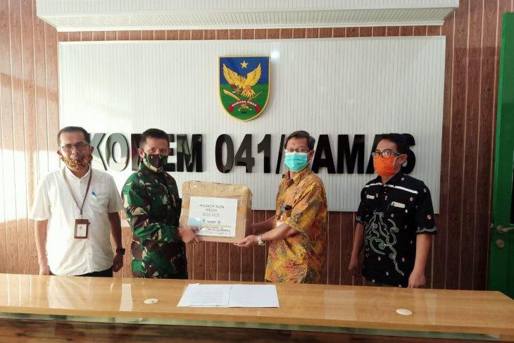 Satgas BUMN Bengkulu salurkan 500 masker ke Korem