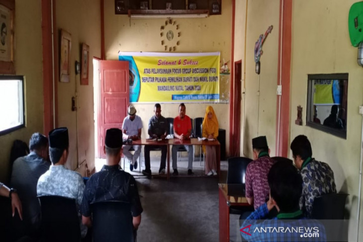 PWI bersama mahasiswa diskusi kondisi Pilkada Madina 2020