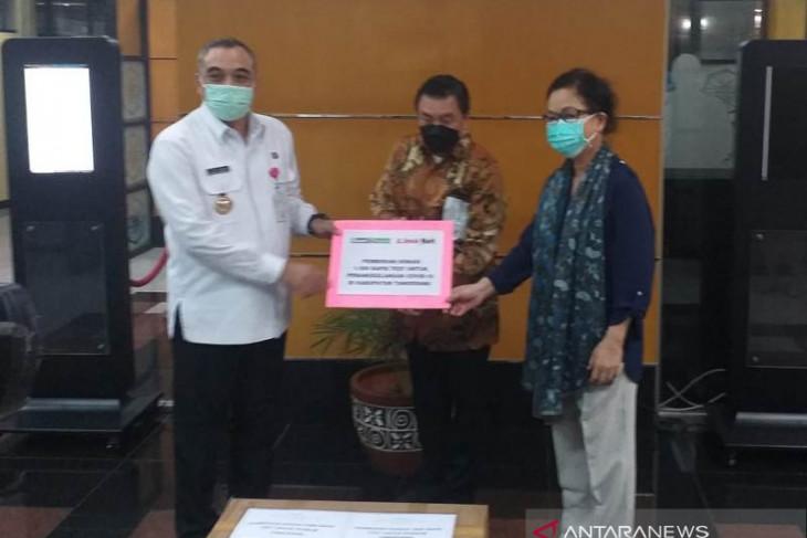 Siloam-Link Net sumbang 1.000 alat rapid test ke Pemkab Tangerang