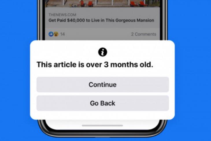 FB peringatkan pengguna sebelum unggah berita lama