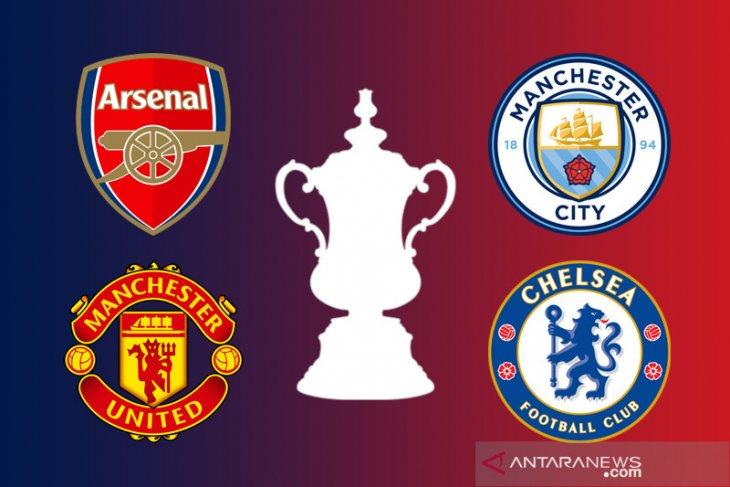 Ringkasan Piala FA: semifinal sisakan tim London dan Manchester saja