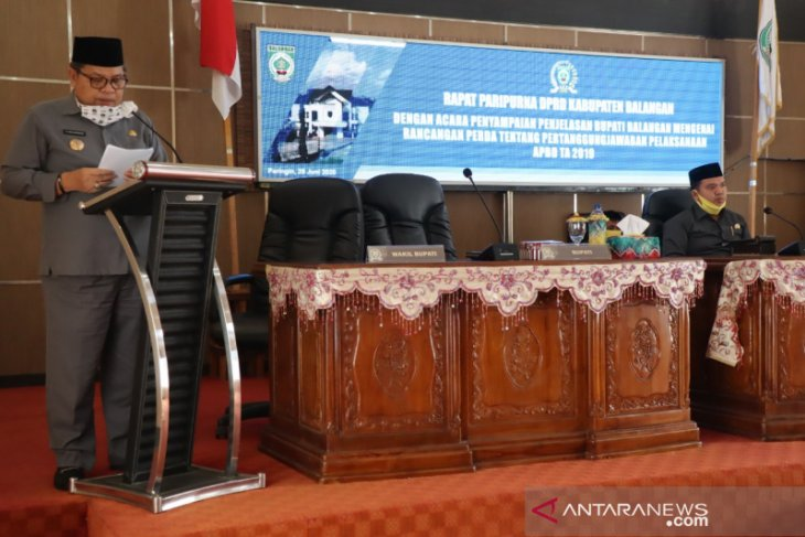 Paripurna DPRD penyampaian LKPj tahun anggaran 2019