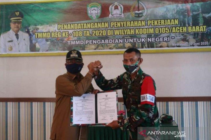 TNI buka akses jalan baru 2,2 KM di Aceh Barat melalui TMMD