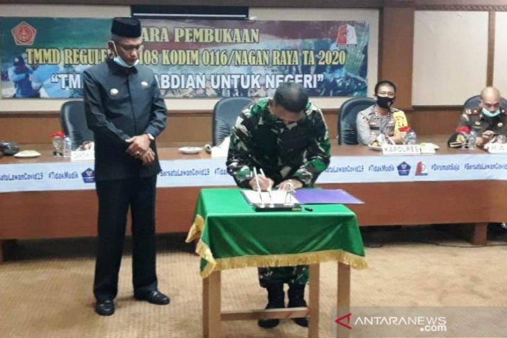 Gelar TMMD di Nagan Raya, TNI fokuskan pembangunan jalan dan atasi COVID-19