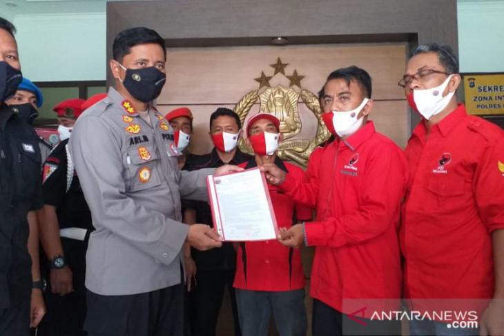 DPC PDI Perjuangan Belitung minta polisi usut kasus pembakaran bendera partai