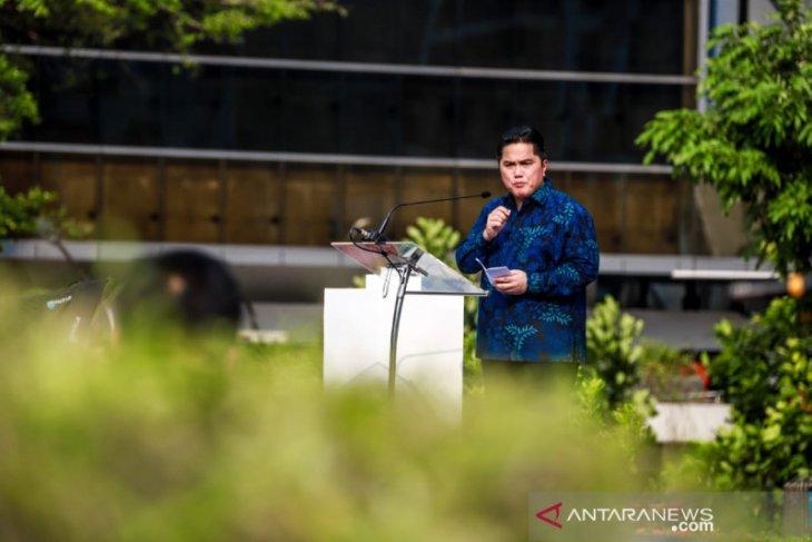 Menteri BUMN Erick Thohir kaji gabungkan perbankan syariah