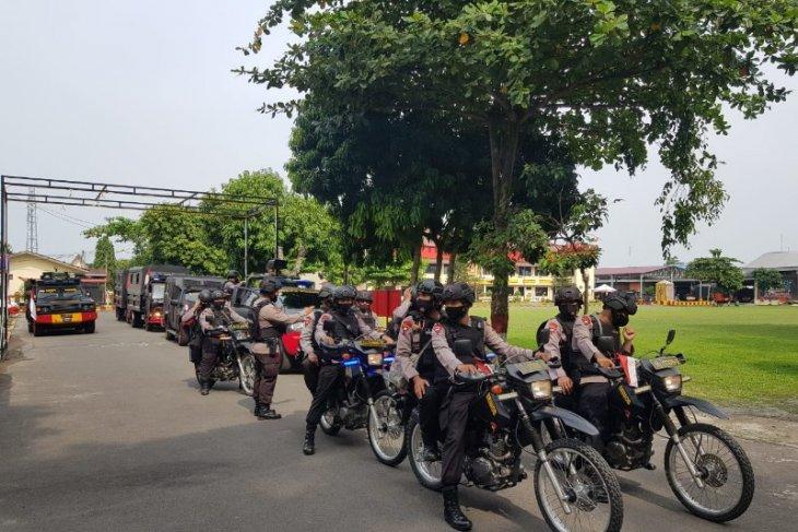 Satuan Brimob Polda Sumut gelar patroli skala besar peringati Hari Bhayangkara