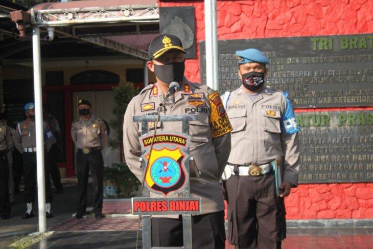 50 personel Polres Binjai naik pangkat