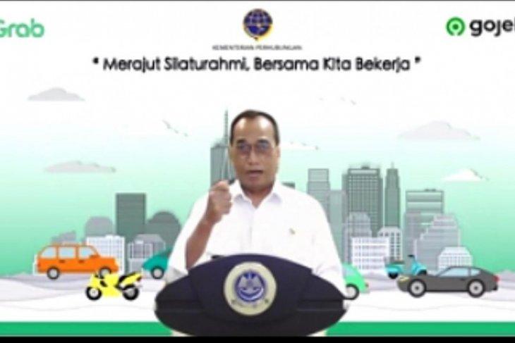 Menhub Budi Karya Sumadi minta aplikator dan pengemudi patuhi protokol kesehatan