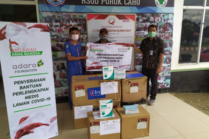 Puruk Cahu Hospital receives various PPE from AMC-Adaro Foundation