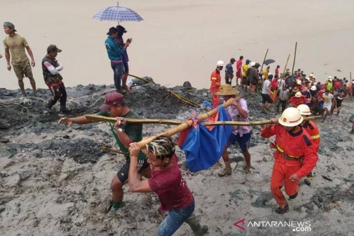 Korban meninggal dalam insiden tanah longsor tambang giok di Myanmar jadi 162