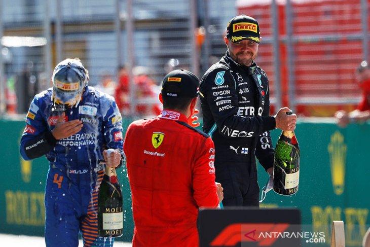 Formula 1: Bottas juarai seri pembuka di Austria setelah drama penalti Hamilton