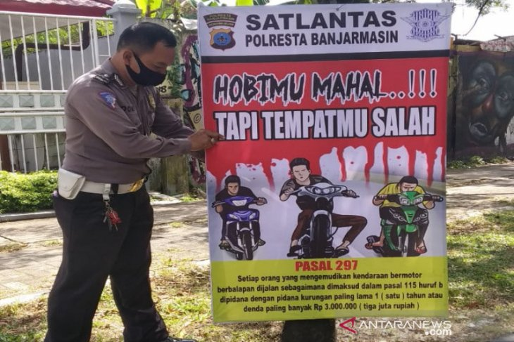Jajaran Polresta Banjarmasin terus tertibkan aksi balapan liar resahkan masyarakat