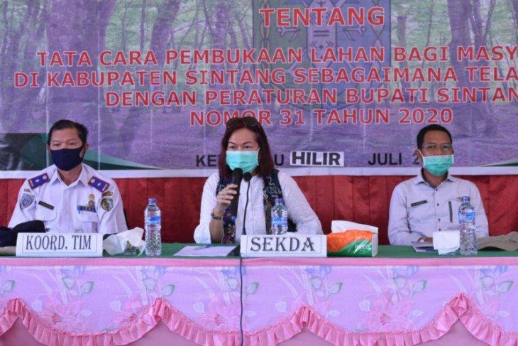 Kabupaten Sintang gencar sosialisasikan aturan terkait Karhutla